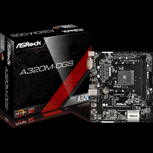 ASRock A320M-DGS AMD AM4 µATX