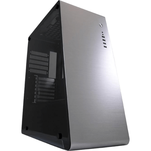 LC-Power 981 S Silverback silber Midi Tower mit Acrylfenster