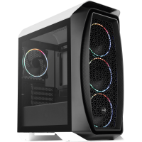 AeroCool Aero One Mini Eclipse weiß/schwarz Mini Tower mit Glasfenster