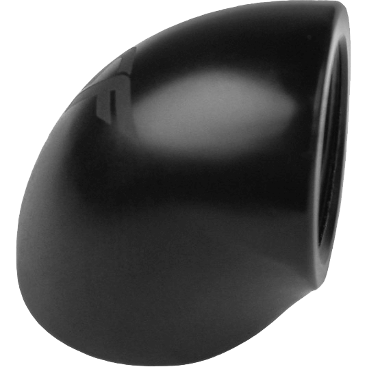 "Nanoxia CoolForce Adapter gewinkelt 90 Grad G 1/4"" IG auf G 1/4"" IG schwarz (CF-F090)"