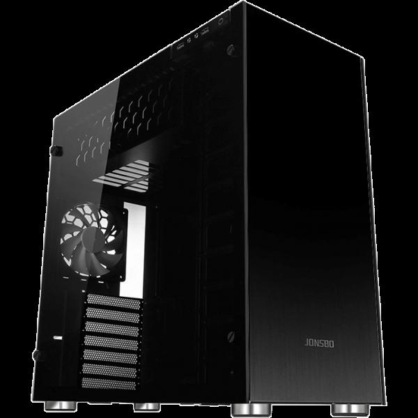 Jonsbo C4 schwarz Midi Tower mit Glasfenster