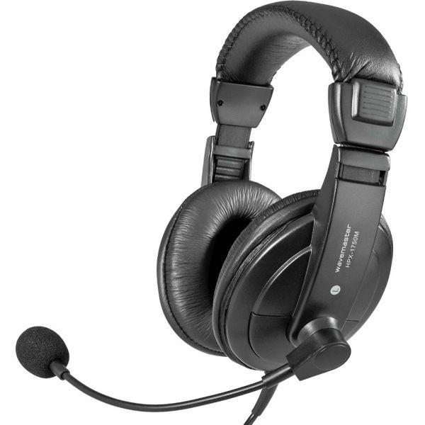 Wavemaster HPX-1750 M Over-Ear Headset 3,5 mm Klinke schwarz (HPX-1750M)