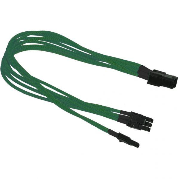 Nanoxia 6-Pin PCIe auf 6+2-Pin PCIe 30 cm Verlängerung grün (NXP683EG)