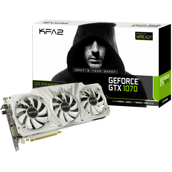 KFA2 GeForce GTX 1070 Hall of Fame 8 GB GDDR5 Retail