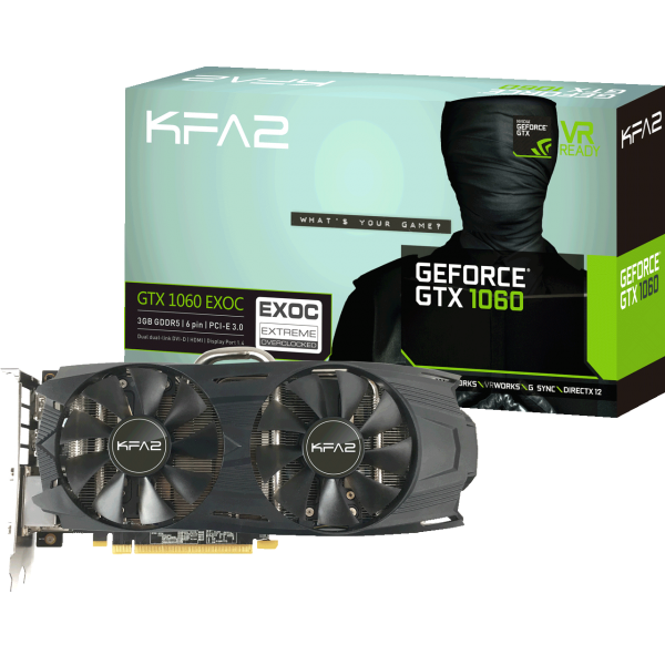 KFA2 GeForce GTX 1060 EXOC 3 GB GDDR5 Retail