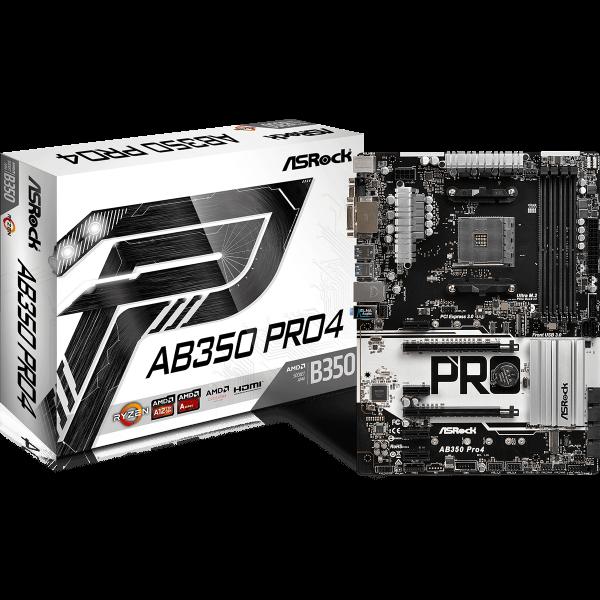 ASRock AB350 Pro4 AMD AM4 ATX