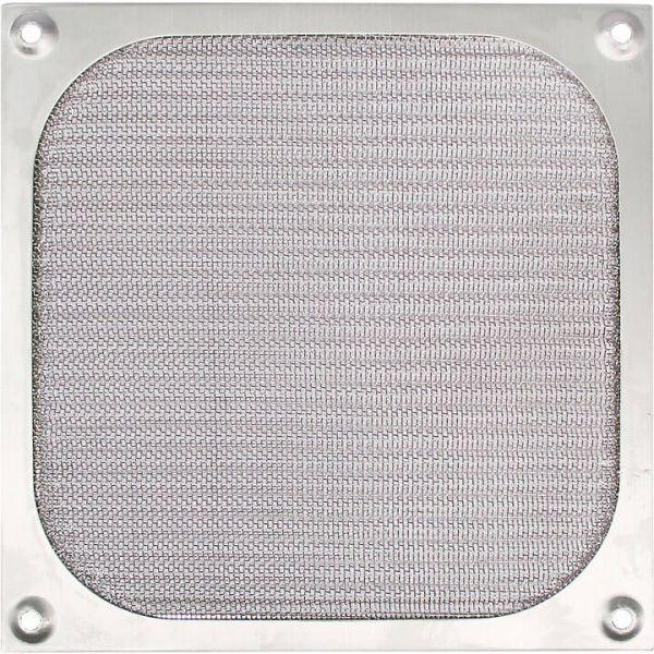 Cooltek Lüftergitter 140 mm mit Filter silber (Gitter 140 Filter - silber)