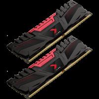 PNY XLR8 16 GB DDR4-3200 DIMM CL16 Dual Kit schwarz/rot (MD16GK2D4320016AXR)