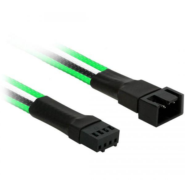 Nanoxia 4-Pin PWM 30 cm Verlängerung grün/schwarz/weiß (NXPWV3EGWS)