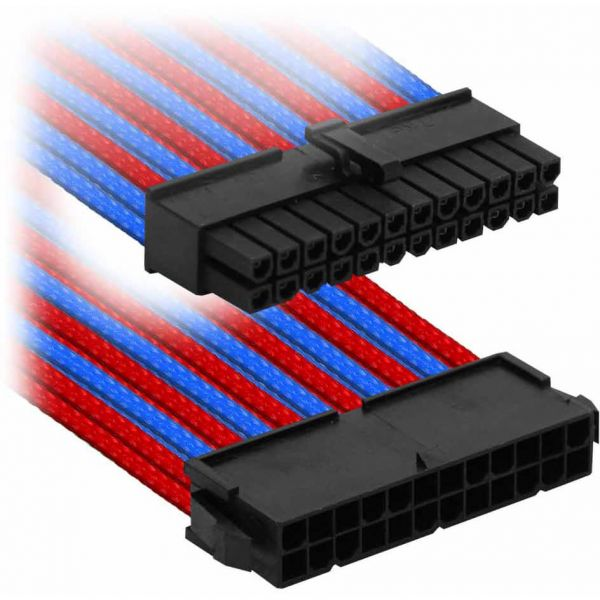 Nanoxia 24-Pin ATX 30 cm Verlängerung blau/rot (NX24V3EBR)