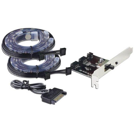 LC-Power LC-PCI-LED 2er-Set LED Stripe RGB 300 mm (LC-PCI-LED)