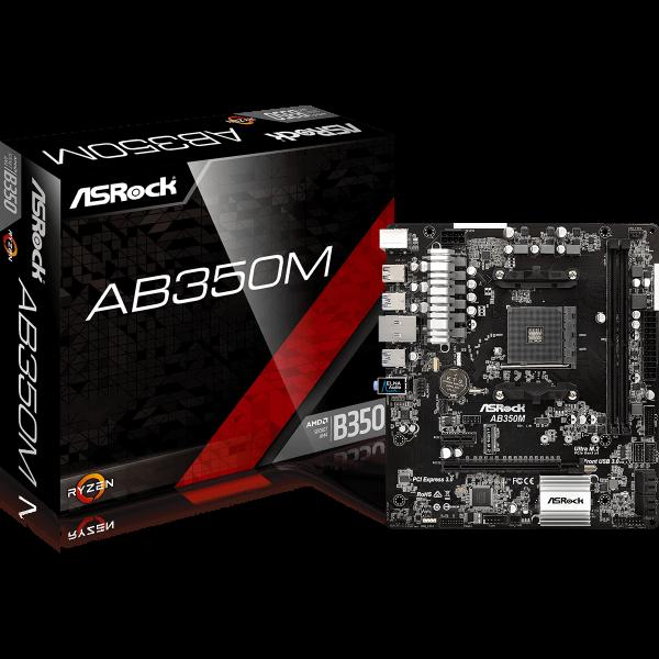 ASRock AB350M AMD AM4 µATX