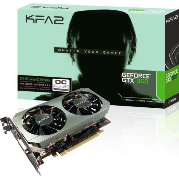 KFA2 GeForce GTX 960 Gamer OC Mini Black 4 GB GDDR5 Retail