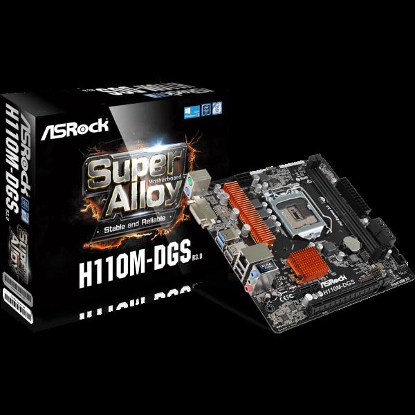 ASRock H110M-DGS-R3.0 Intel 1151 µATX