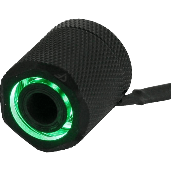 "Nanoxia CoolForce LED Green Fitting gerade G 1/4"" AG auf 16/13 mm schwarz (CF-FFO-G)"