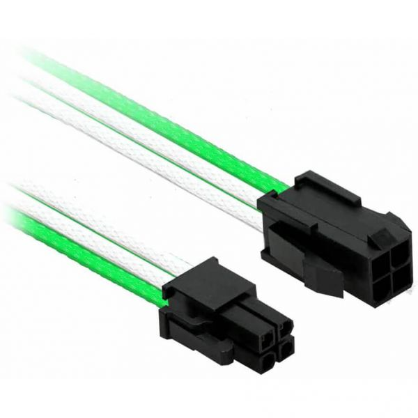 Nanoxia 4-Pin P4 30 cm Verlängerung grün/weiß (NXP4V3EGW)