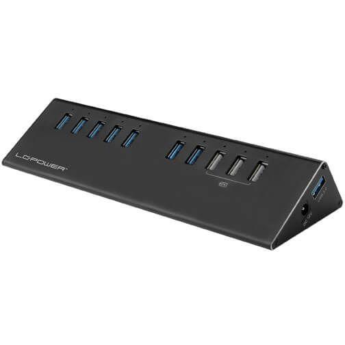 LC-Power LC-HUB-ALU-2B-10 USB Hub extern USB 3.0 Typ-A schwarz (LC-HUB-ALU-2B-10)
