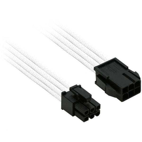 Nanoxia 6-Pin PCIe 30 cm Verlängerung weiß (NX6PV3EW)