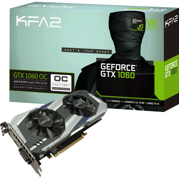KFA2 GeForce GTX 1060 OC 6 GB GDDR5 Retail