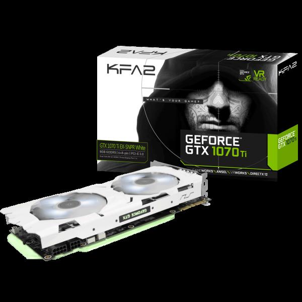 KFA2 GeForce GTX 1070 Ti EXOC SNPR White 8 GB GDDR5 Retail