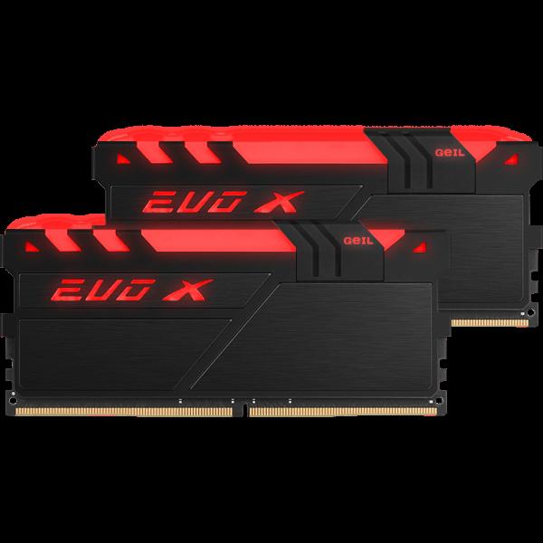 GeIL EVO X 16 GB DDR4-3200 DIMM CL16 Dual Kit schwarz (GEXB416GB3200C16ADC)