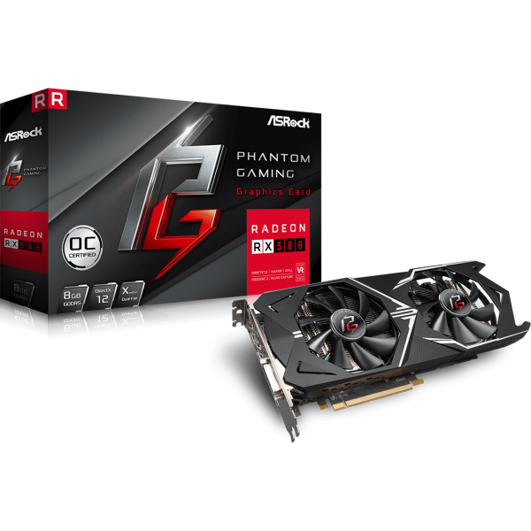 ASRock Radeon RX 580 Phantom Gaming X OC 8 GB GDDR5 Retail