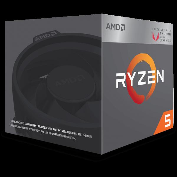 AMD Ryzen 5 2400G 4x 3,60 GHz BOX (YD2400C5FBBOX)