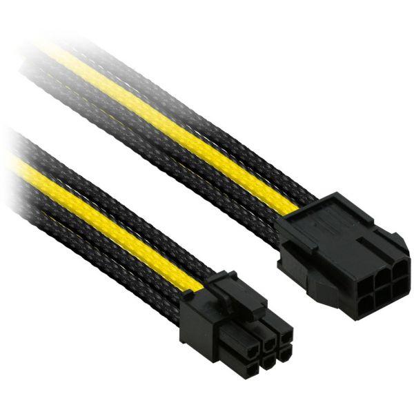 Nanoxia 6-Pin PCIe 30 cm Verlängerung gelb/schwarz (NX6PV3ESG)