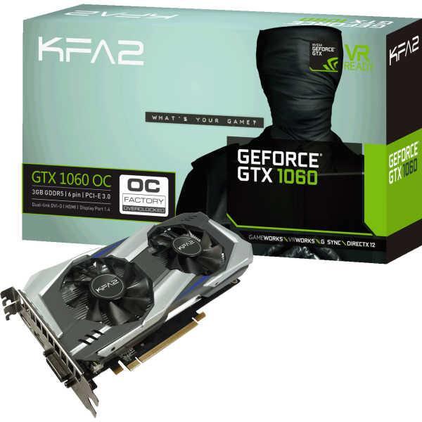 KFA2 GeForce GTX 1060 OC 3 GB GDDR5 Retail