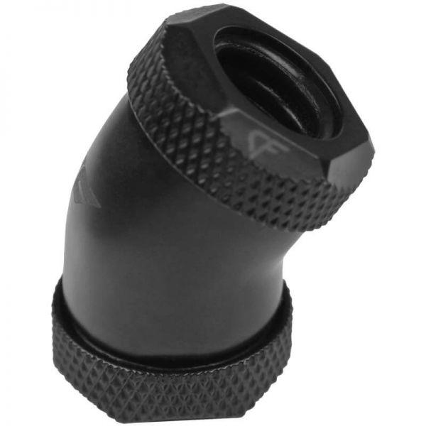 Nanoxia CoolForce Hardtube Adapter gewinkelt 30 Grad 12 mm auf 12 mm schwarz (CF-F130C)
