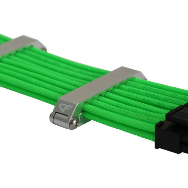 Nanoxia CoolForce CC-12 Kabelclip silber (NXCC600-12)