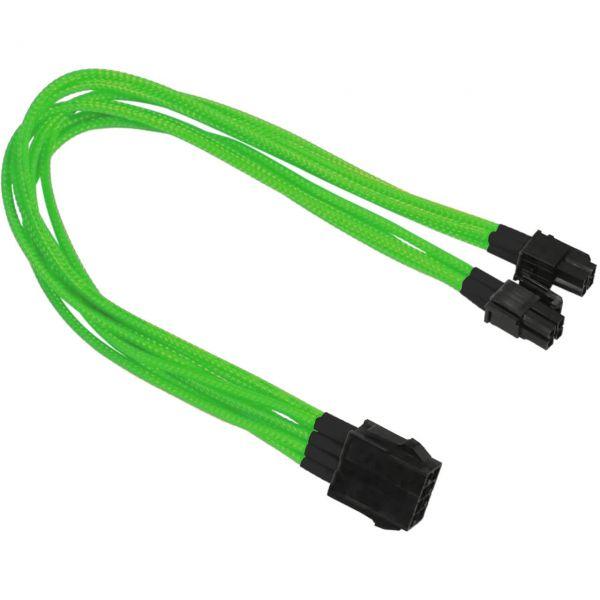 Nanoxia 8-Pin EPS auf 2x 4-Pin EPS 30 cm Verlängerung grün (NX8PV3ENG)