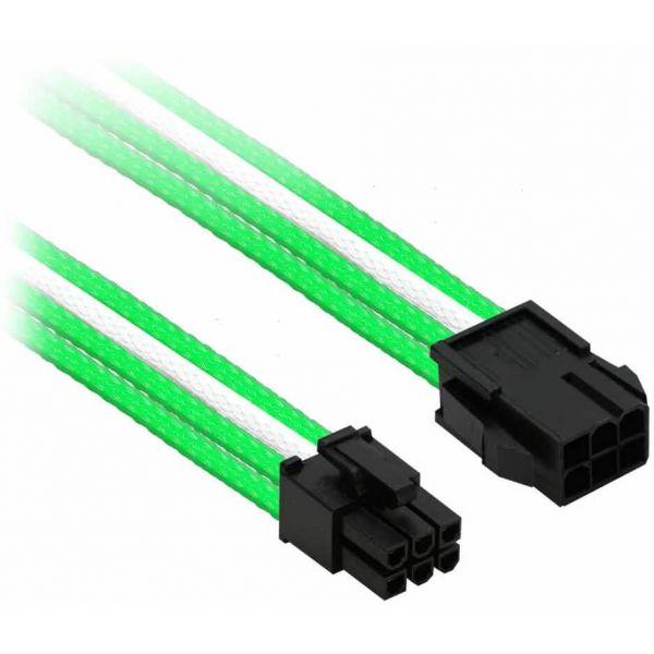 Nanoxia 6-Pin PCIe 30 cm Verlängerung grün/weiß (NX6PV3EGW)