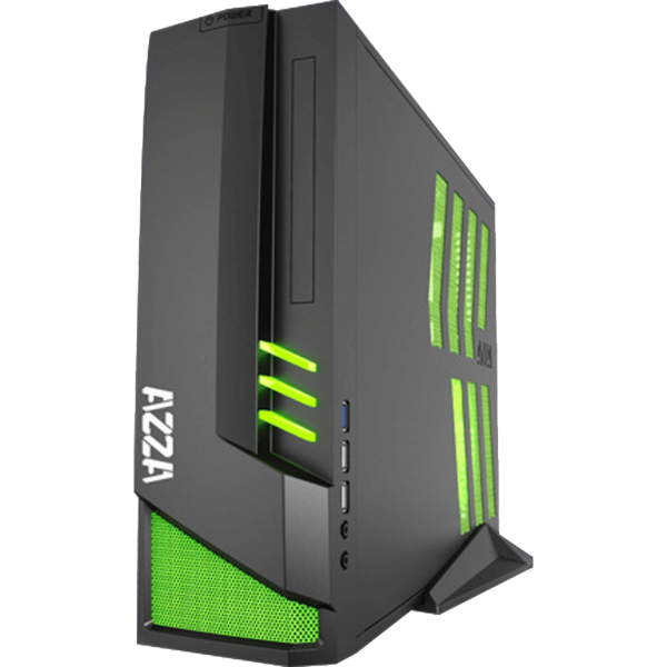 AZZA Z103 schwarz ITX Tower schallgedämmt mit Glasfenster