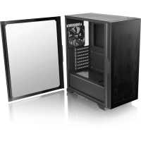 Thermaltake Versa T25 TG schwarz Midi Tower mit Glasfenster