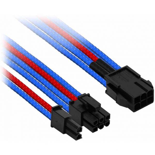 Nanoxia 6-Pin PCIe auf 6+2-Pin PCIe 30 cm Verlängerung blau/rot (NXP683EBR)