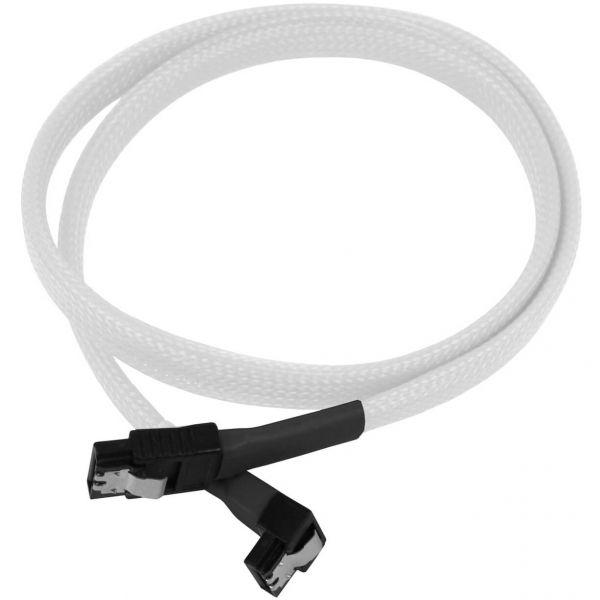 Nanoxia 7-Pin SATA auf 7-Pin SATA Stecker abgewinkelt 60 cm Anschlusskabel weiß (NXS6G6W)
