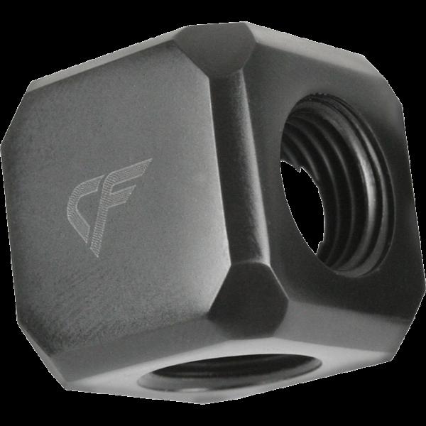 """Nanoxia CoolForce Würfeladapter 5x G 1/4"""" IG schwarz (CF-F05F)"""