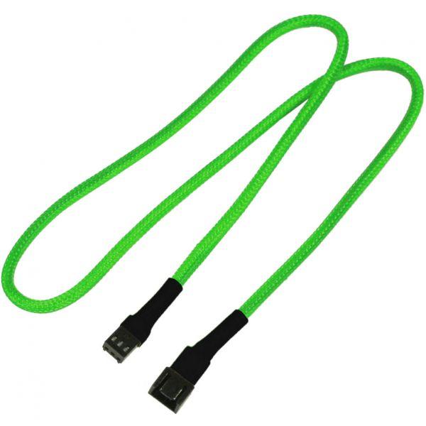 Nanoxia 3-Pin Molex 60 cm Verlängerung neon grün (NX3PV60NG)