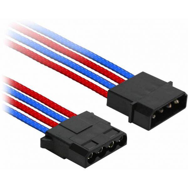 Nanoxia 4-Pin Molex 30 cm Verlängerung blau/rot (NX4PV3EBR)