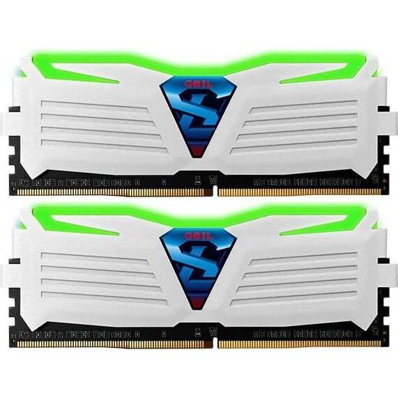 GeIL Super Luce 16 GB DDR4-2400 DIMM CL16 Dual Kit weiß (GLWG416GB2400C16DC)