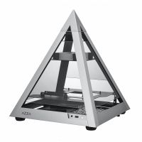 AZZA Pyramid Mini 806 silber Mini Tower mit Glasfenster