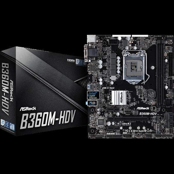 ASRock B360M-HDV Intel 1151 v2 µATX