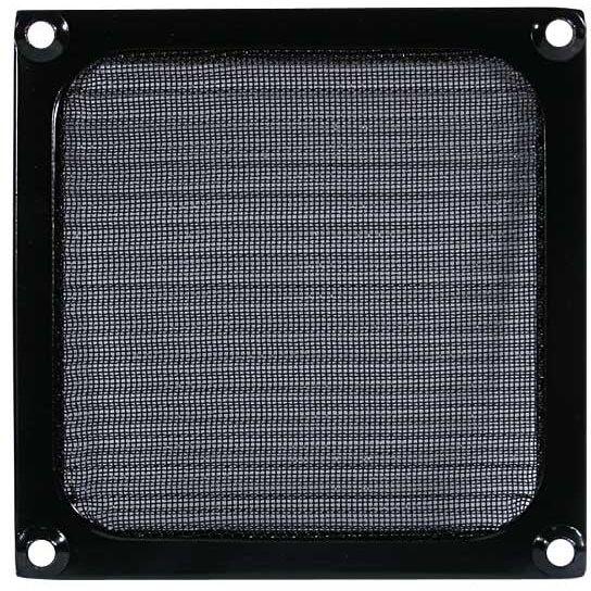 Cooltek Lüftergitter 80 mm mit Filter schwarz (Gitter 80 Filter)