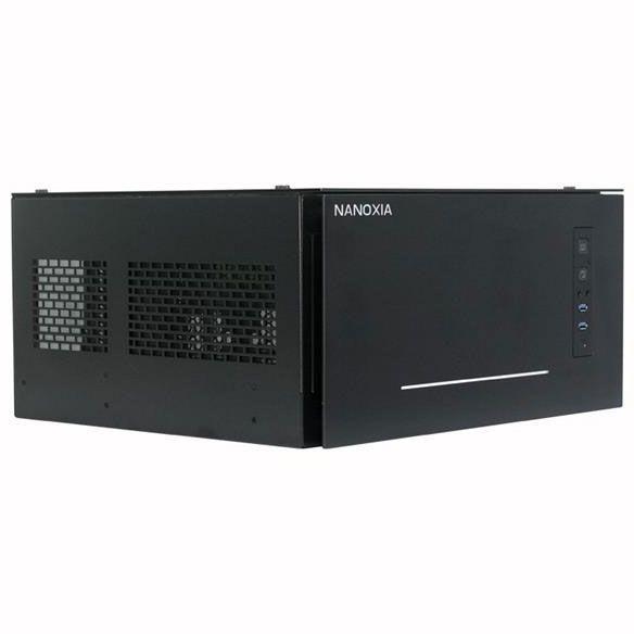 Nanoxia Project S schwarz Desktop mit Glasfenster