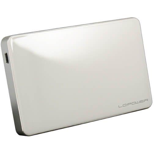 "LC-Power LC-25U3W-Elektra 2,5"" Externes Gehäuse USB 3.0 Micro-B weiß/silber"