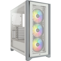 Corsair iCue 4000X RGB weiß Midi Tower mit Glasfenster