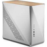 Fractal Design Era ITX Silver White Oak silber Mini Tower