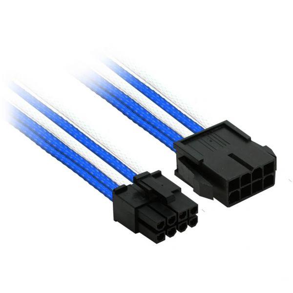 Nanoxia 8-Pin PCIe 30 cm Verlängerung blau/weiß (NX8PE3EBW)