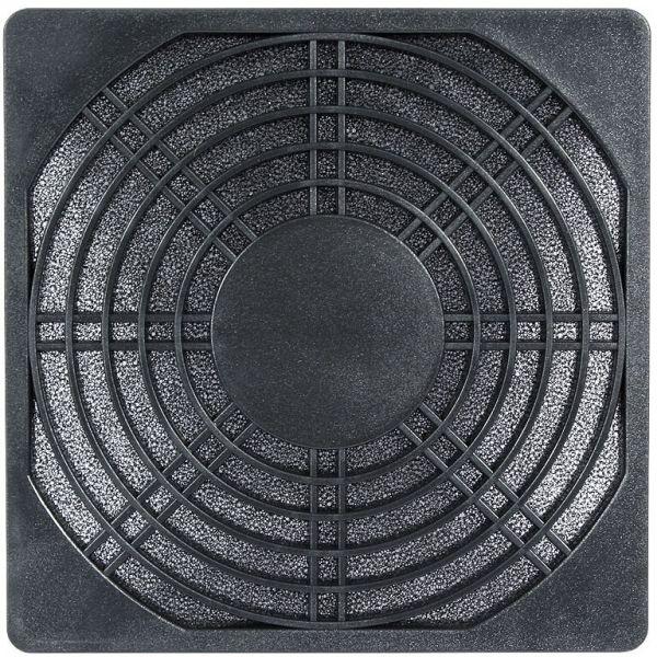 Cooltek Kunststoff Lüftergitter 120 mm mit Filter schwarz (Gitter 120 Filter Plastik)